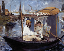 E.Manet, Die Barke (Claude Monet..) by AKG  Images