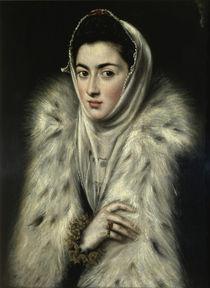 El Greco, Dame mit Pelz by AKG  Images