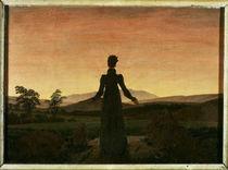 C.D.Friedrich, Frau untergehende Sonne von AKG  Images