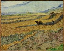 V.van Gogh, Acker mit pfluegendem Bauern by AKG  Images