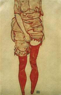 E.Schiele, Stehende Frau in Rot by AKG  Images