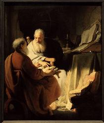 Rembrandt, Zwei alte Maenner im Gespraech von AKG  Images