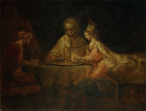 Rembrandt, Ahasver, Haman und Esther by AKG  Images