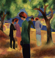 August Macke, Dame in gruener Jacke/1913 von AKG  Images