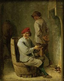 David Teniers d.J., Raucher auf einem .. von AKG  Images