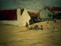 M.Liebermann, Spielende Kinder im Dorf von AKG  Images