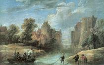 D.Teniers d.J., Landschaft mit Fischern von AKG  Images