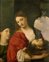 Tizian, Salome mit Haupt Johannes von AKG  Images
