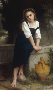 W.A.Bouguereau, Waisenmaedchen am Brunnen by AKG  Images