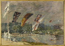 A.Sisley, Ruderregatta bei Molesey von AKG  Images