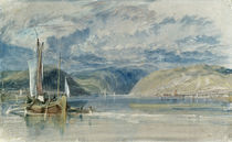 W.Turner, Ruedesheim, Blick auf das ... by AKG  Images