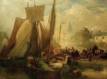 A. Achenbach, Fischmarkt in Ostende,1876 by AKG  Images