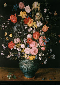 Jan Bruegel d.Ae./ Blumen in blauer Vase by AKG  Images