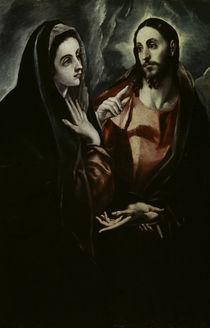 El Greco, Abschied Christi von Maria von AKG  Images