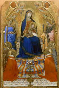 Ambrogio Lorenzetti, Thronende Madonna by AKG  Images