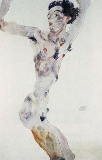 Egon Schiele, Maennl. Akt (Selbstbildnis) by AKG  Images