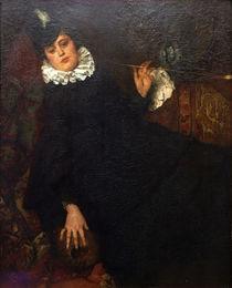 W.Leibl, Junge Pariserin (Die Kokotte) by AKG  Images