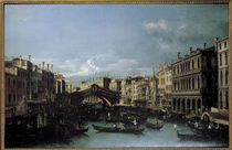 Venice / Rialto Bridge / Canaletto by AKG  Images