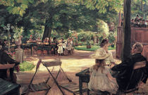 Max Liebermann, Restaurationsgarten by AKG  Images
