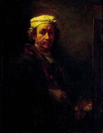 Rembrandt, Selbstbildnis vor Staffelei by AKG  Images