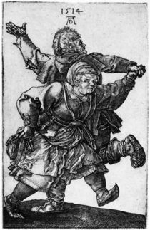 Duerer, Tanzendes Bauernpaar by AKG  Images
