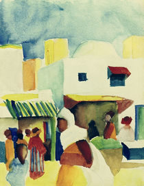 A.Macke, Markt in Tunis I by AKG  Images