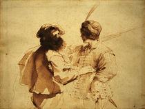 Guercino, Junger Soldat mit Vater von AKG  Images