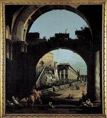 Bellotto, Capriccio mit Campidoglio by AKG  Images