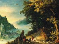 J.Brueghel d.Ae., Weite  Flusslandschaft von AKG  Images