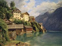 Ansicht von Hallstatt /Gem.v.Waldmueller von AKG  Images