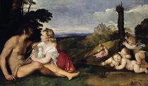Tizian, Allegorie der drei Lebensalter by AKG  Images