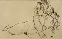 E.Schiele, Sich aufstuetzender weibl.Akt von AKG  Images