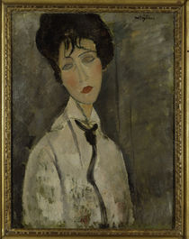 A.Modigliani, Frau mit schwarz.Krawatte by AKG  Images