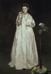 Manet/Dame mit dem Papagei/1866 by AKG  Images
