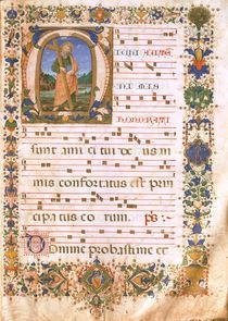 Notenhandschrift mit Initiale / 15.Jh. von AKG  Images