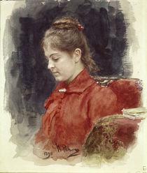 Ilja Repin, Bildnis J.Lawrowa/ 1890 von AKG  Images