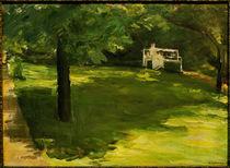 M.Liebermann, Gartenbank unter Kastanien von AKG  Images