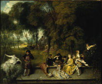 Antoine Watteau, Reunion en plein air by AKG  Images