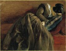Adolph Menzel, Schwester schlafend/1848 von AKG  Images