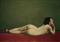 F.Vallotton,Liegender Akt auf rotem Tepp von AKG  Images
