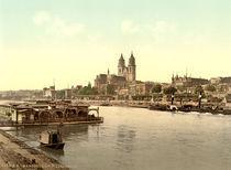 Magdeburg mit Elbe und Dom /Photochrom by AKG  Images