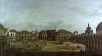 Dresden,Zwinger / Gemaelde von Bellotto von AKG  Images