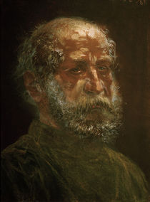 A.v.Menzel,Kopf eines kahlkoepfigen Juden von AKG  Images