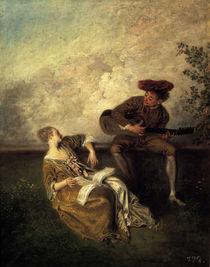 Watteau, Der Gesangsunterricht by AKG  Images