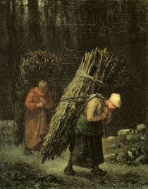J.F.Millet, Reisigtraegerinnen/ um 1858 by AKG  Images
