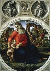 L.Signorelli, Maria mit Kind.. von AKG  Images