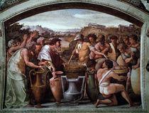 Raffael, Abraham und Melchisedek by AKG  Images