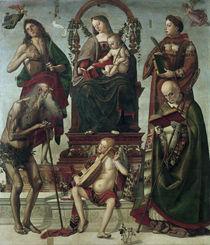 L.Signorelli, Thronende Maria u.Heilige von AKG  Images