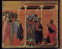 Duccio, Erster Verhoer Christi d.Pilatus by AKG  Images