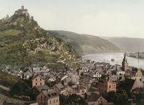 Marksburg mit Braubach / Photochrom von AKG  Images